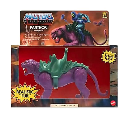 Masters of the Universe Origins Action Figure 2021 Panthor Flocked Collectors Ed