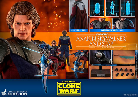 1:6 Anakin Skywalker and STAP - The Clone Wars - Television Masterpiece Series