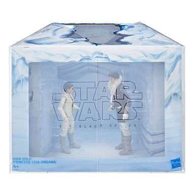 Star Wars Episode V Black Series Action Figures Leia & Han (Hoth) Convention