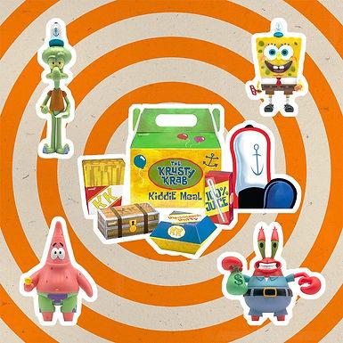 SpongeBob SquarePants ReAction Action Figure 4-Pack Krusty Krab Meal NYCC 10 cm