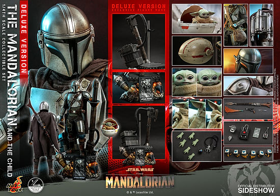 Hot Toys 1:4 The Mandalorian and The Child DELUXE Set