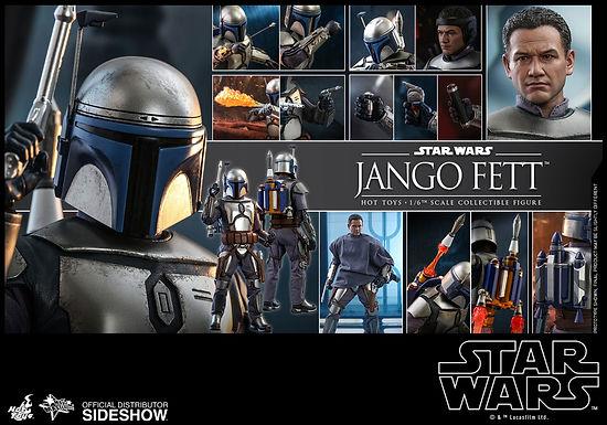 Hot Toys 1.6 Star Wars Attack Of The Clones Jango Fett