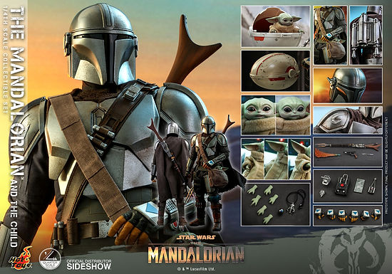 Hot Toys 1:4 The Mandalorian and The Child Set
