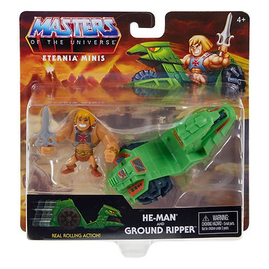 Masters of the Universe Eternia Minis He-Man & Ground Ripper
