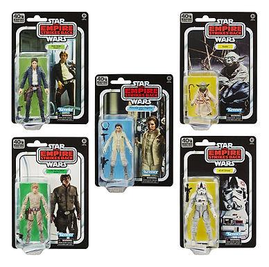 Star Wars Episode V Black Series Action Figures 40th Anniversary 2020 Wave 1