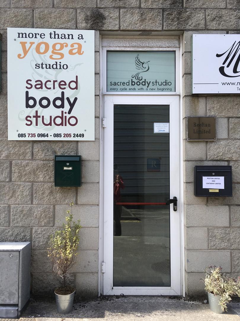 Sacred Body Studio entrance door