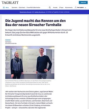 Dreifachturnhalle Sirnach - Tagblatt