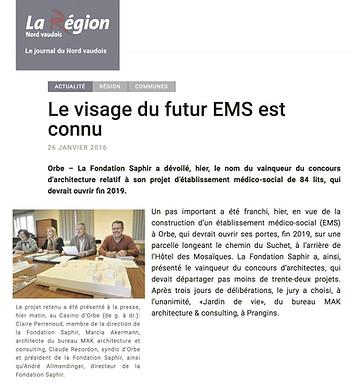 EMS Orbes - La Région