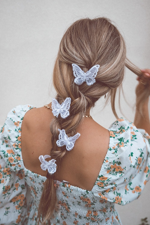 LACE BUTTERFLY CLIPS