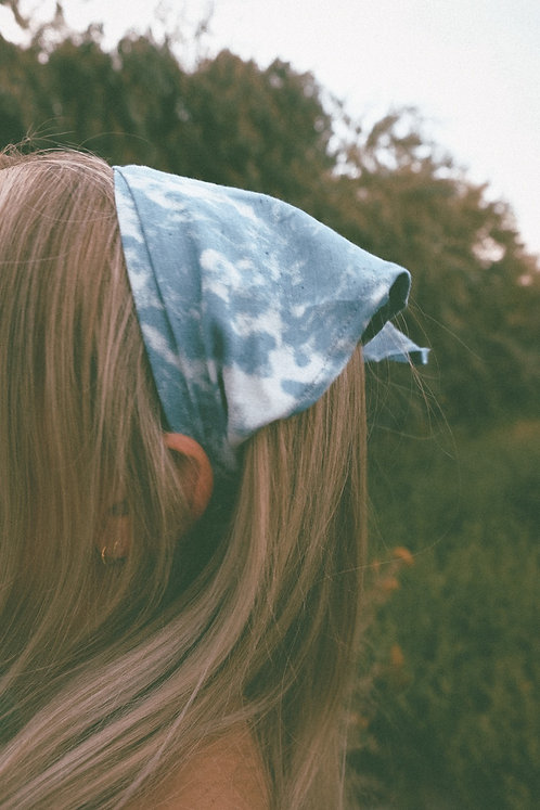 CLOUDED MORNINGS PREMADE BANDANA