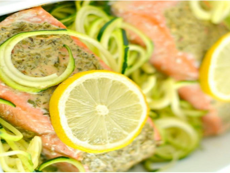 Lemon & Herb Salmon With Spiralized Zucchini