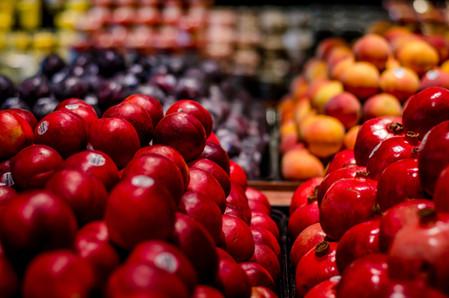 Nectarines and pomegranates