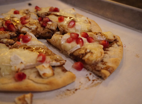 Brie & Pomegranate Pizza