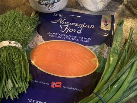 Salmon Dill Cheeseball