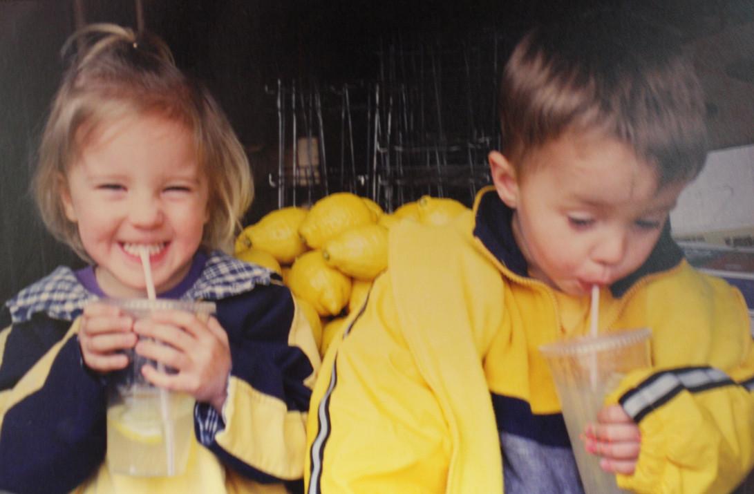 Kysa and Ryall with Sunripe Pucker Power Lemonade