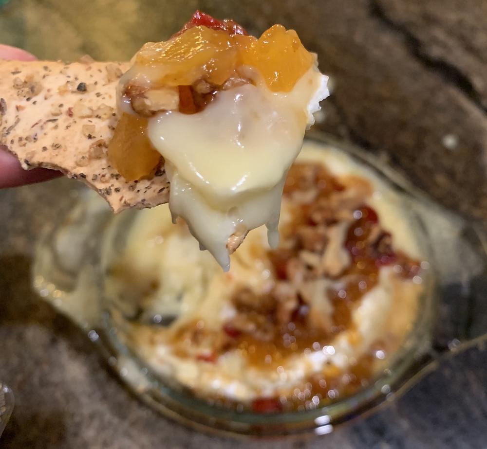 Gooey Mango Walnut Baked Brie