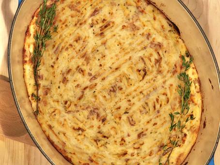 Turkey Sheperd's Pie with Garlicky Goat Cheese Mash