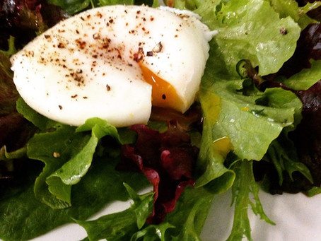Perfect Poached Eggs Salad