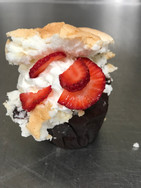 Angel Food Cupcake With Strawberries & Whip
