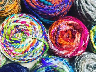 毛糸の量り売り@糸に恋して展示会