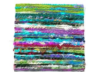 アートパネルから編み物