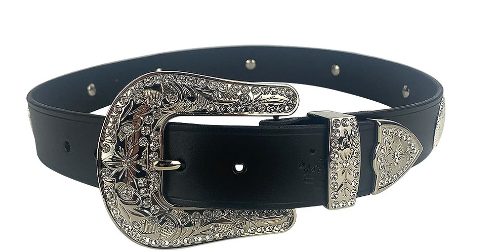 Glam Western Belt with Concho