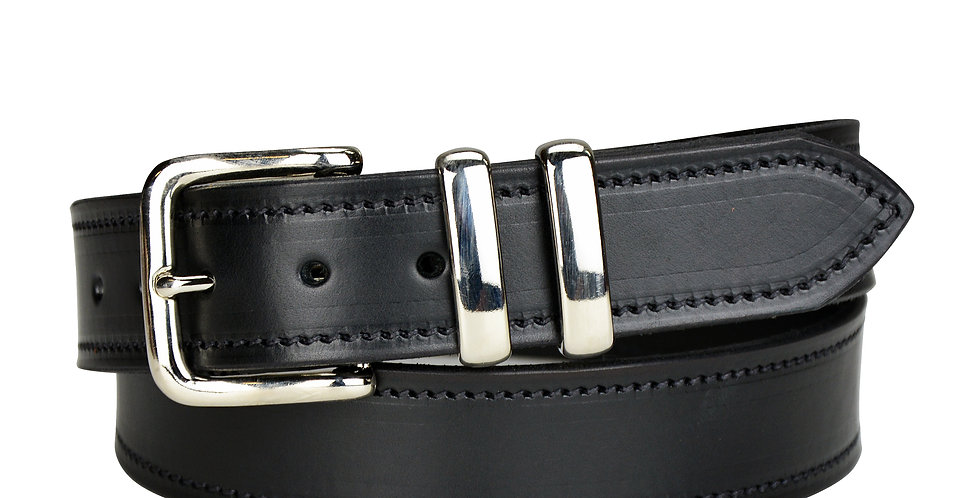 "Leather Belt Black - 1 1/2"""