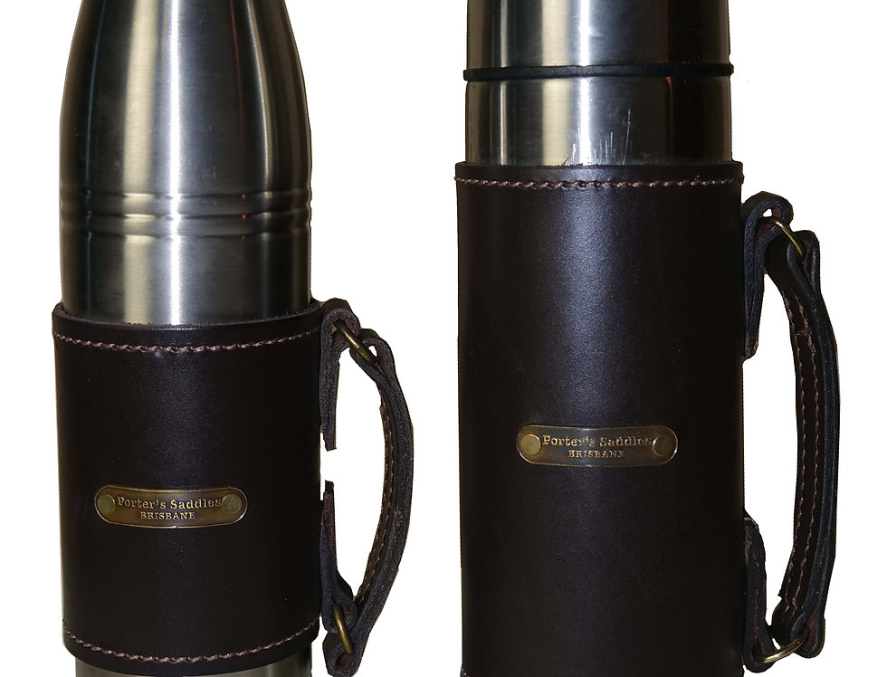 Leather Sleeved Flask