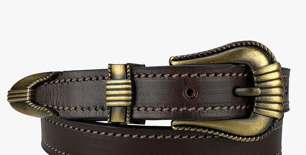 Ladies Dress Belt Antique Buckle