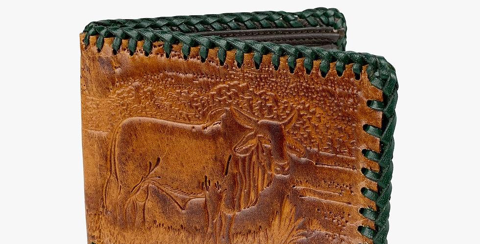 Embossed Kangaroo Laced Wallet