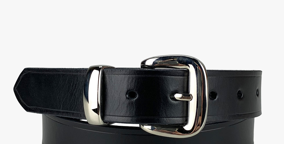 "Leather Dress Belt Black - 1 1/4"""