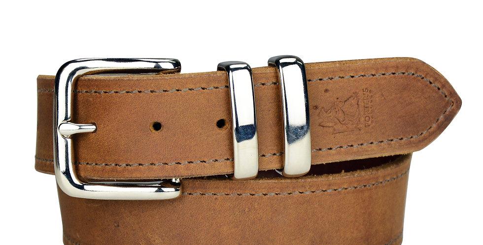 "Leather Belt Distressed Honey - 1 1/2"""