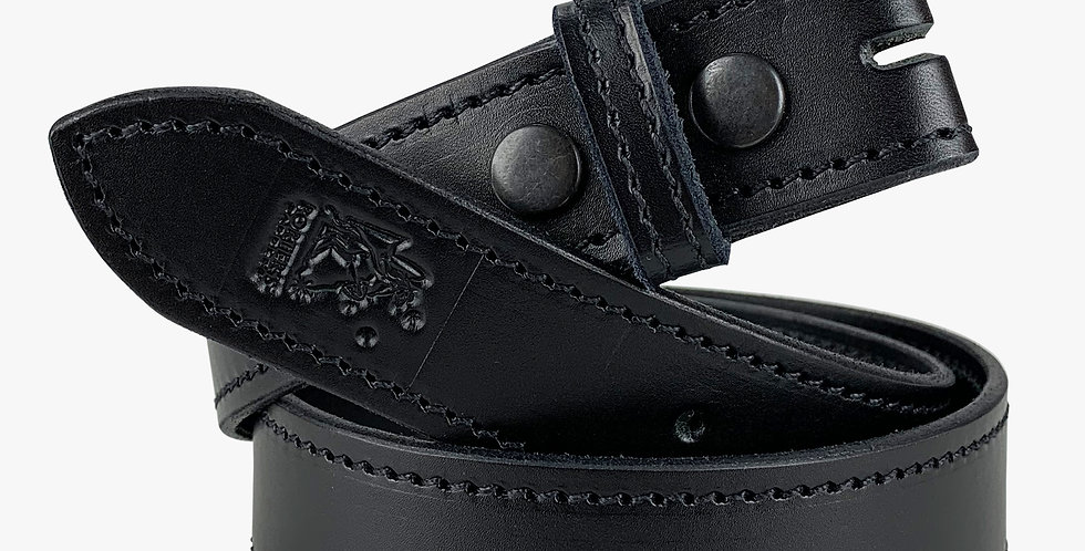 Leather Belt With No Buckle Black