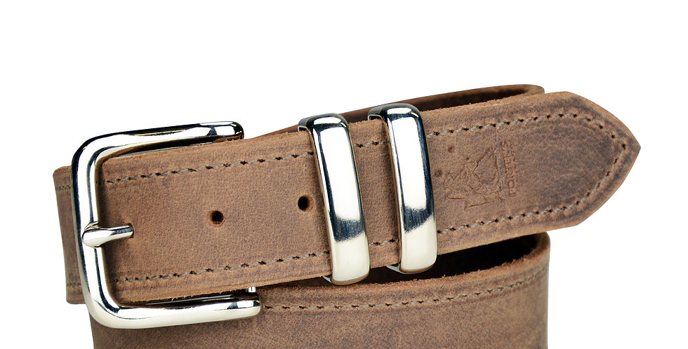 Leather Belt Distressed Brown - 1 1/2