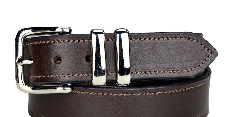 Leather Belt Dark Brown - 1 1/2