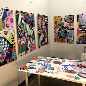 Evening work at the studio