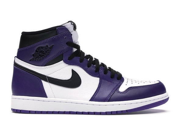 "Air Jordan 1 Retro High ""Court Purple White"""