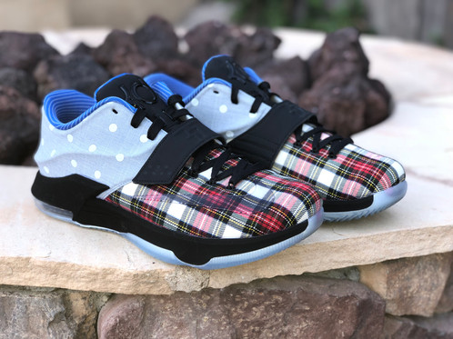"quality design a3bd1 b82ea KD 7 EXT CNVS QS ""PLAID AND POLKA DOT"", PRE-OWNED 