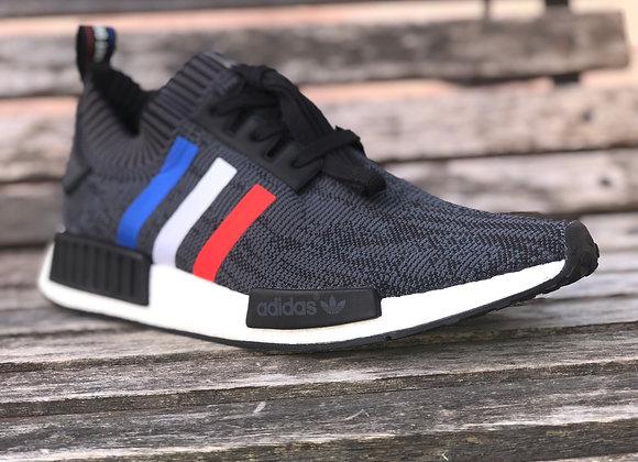 """Adidas NMD R1 """"Tri Color Stripes Black"""""""