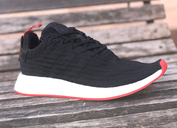 "Adidas NMD R2 Core Black Red ""Two Toned"""