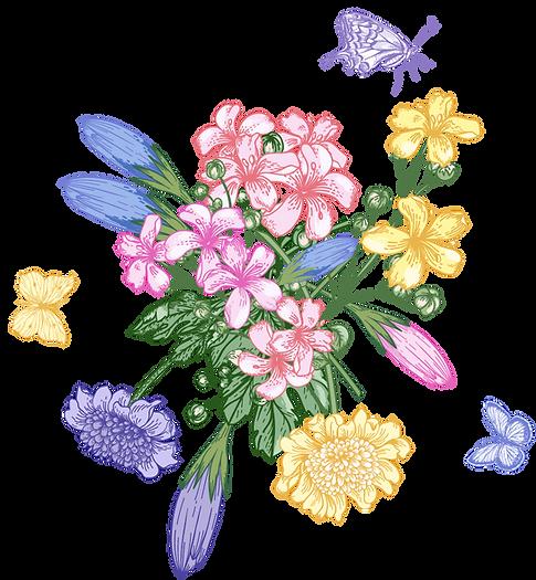 Hirschberg Gin Blumenstrauß