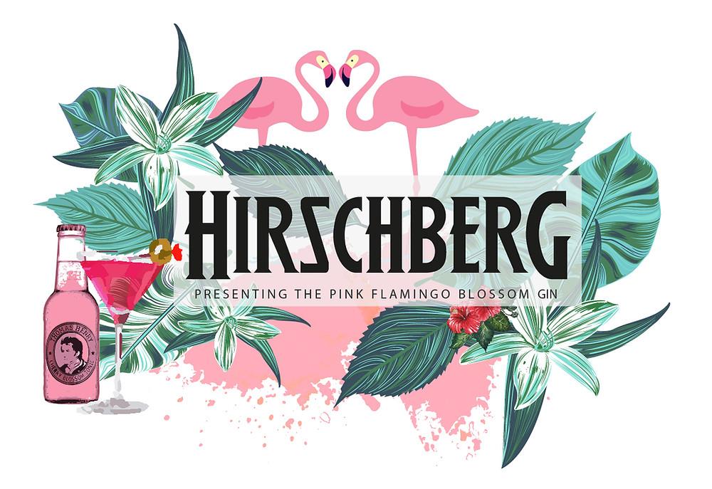 Hirschberg Gin Pink Flamingo, Summerdrink 2017