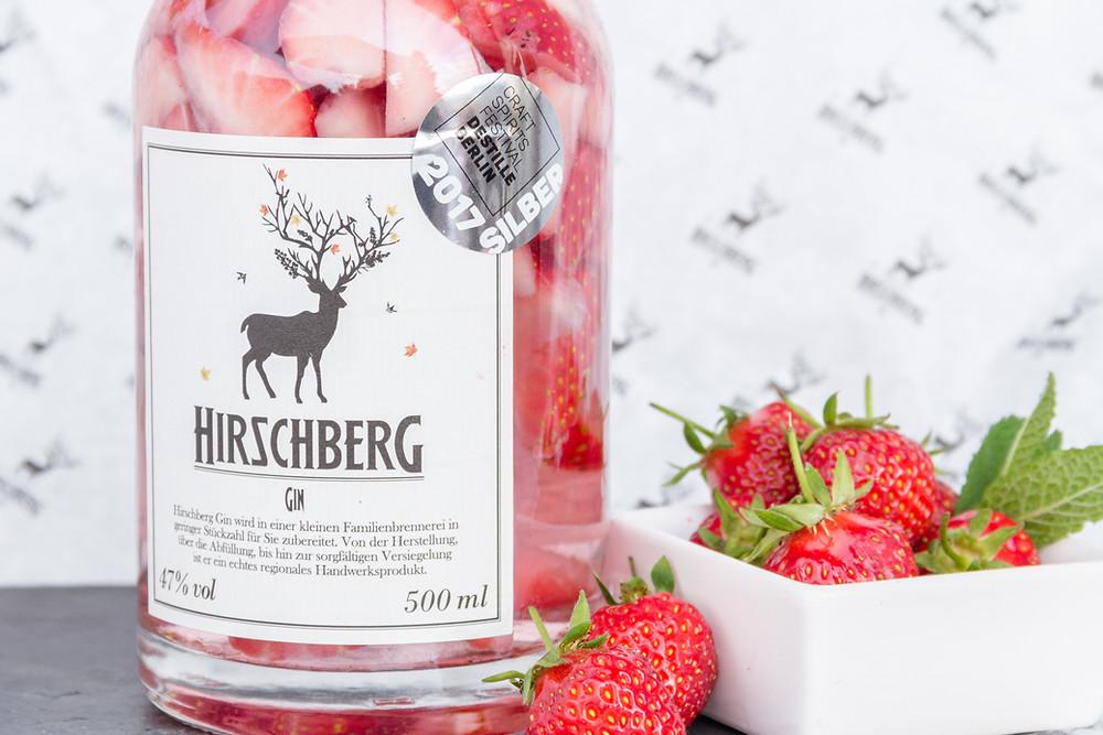 Hirschberg Gin, Erdbeeren