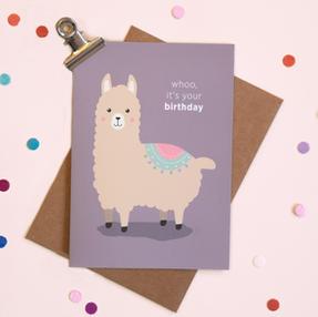 Alpaca verjaardagskaart