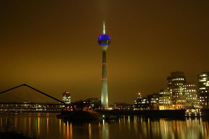 Dusseldorf at night
