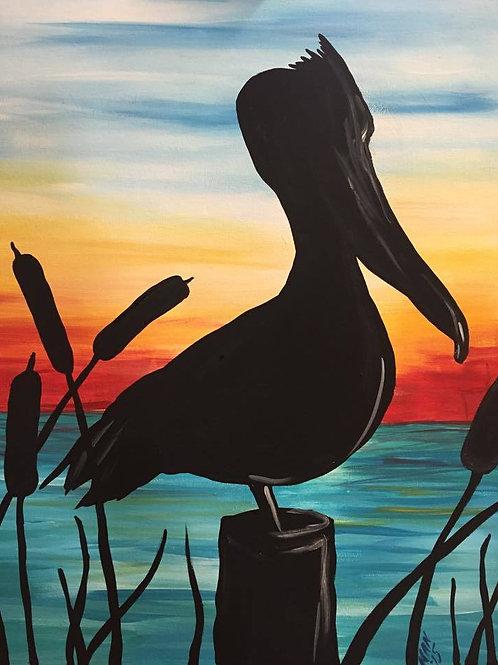 Pelican Silhouette
