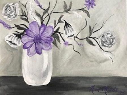Grayscale Vase