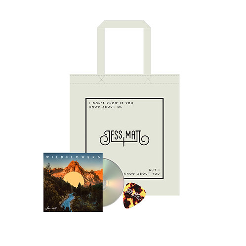 SIGNED WILDFLOWERS CD (incl. lyric booklet) + SIGNED TOTE BAG + J&M GUITAR PICK