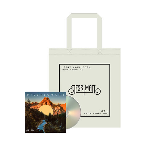 SIGNED WILDFLOWERS CD (incl. lyric booklet) + SIGNED TOTE BAG