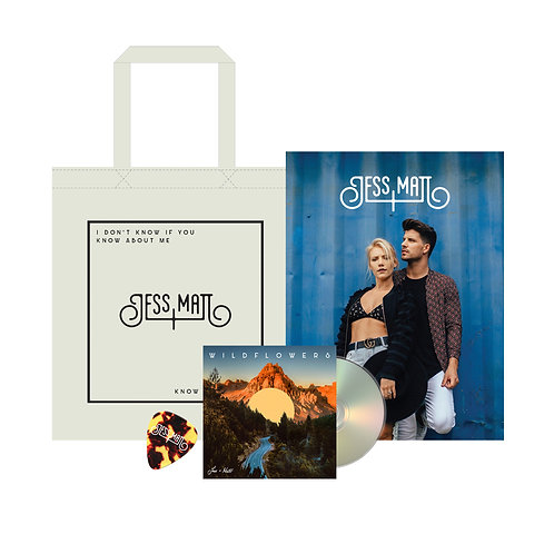 SIGNED WILDFLOWERS CD + SIGNED TOTE BAG + SIGNED POSTER + J&M GUITAR PICK